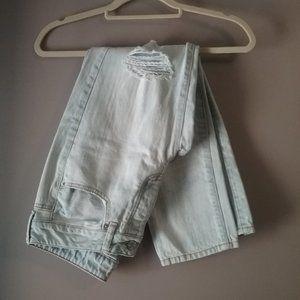 "American Eagle ""Boy Crop"" Jeans, Distressed, 4"